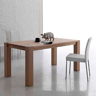 Elegant, light wood 'Canterbury' table. Beautiful, simple, minimalist, elegant, ultramodern and contemporary. High quality. My Italian Living.