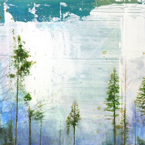 """Steven Nederveen OPENING IN THE TREES / Canada House Gallery - mixed media, resin, panel 24"""" x 24"""""""