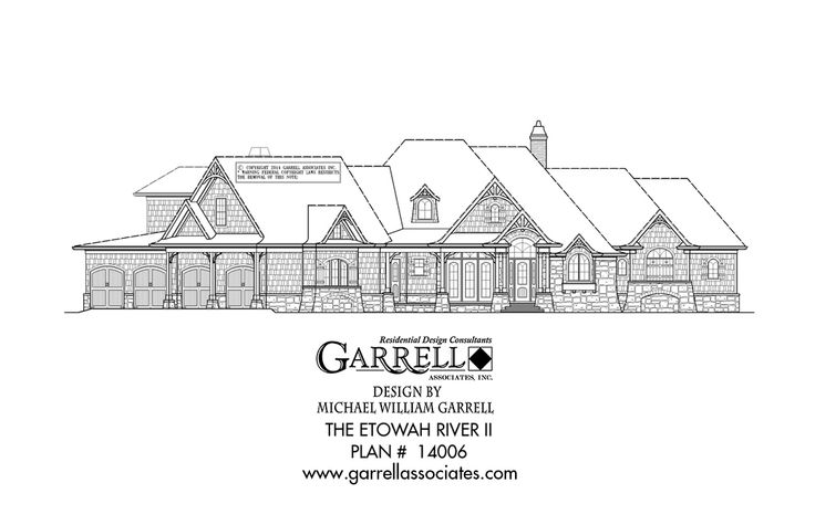 Etowah River II House Plan 14006, Front Elevation, Craftsman Style House Plans, Mountain House Plans