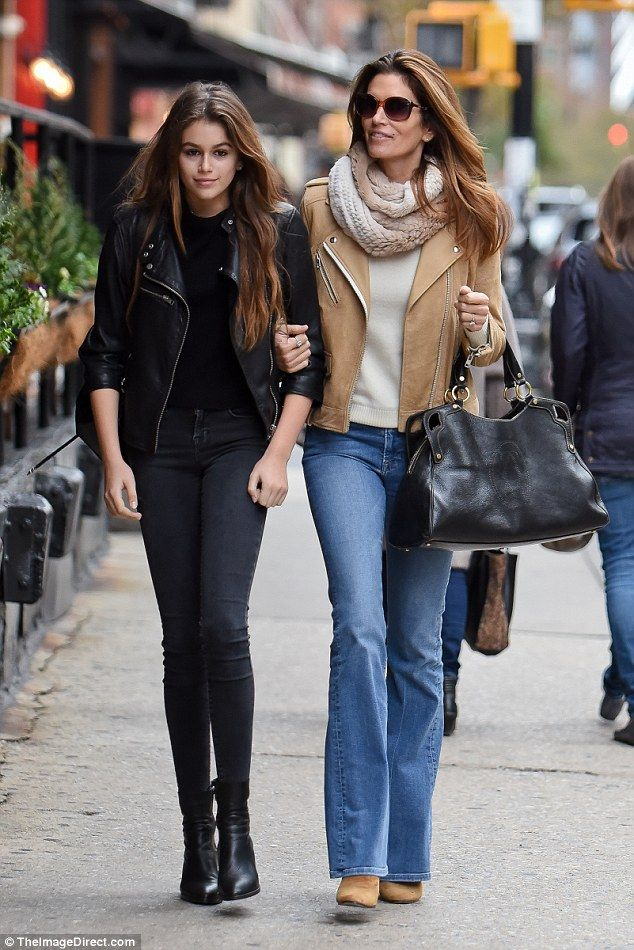 Great genes! Cindy Crawford, 49, and her daughter Kaia, 14, stepped out together in NYC on...