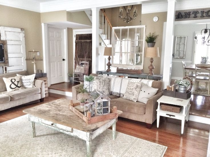 Rustic And Farmhouse Living Room IG @ Bless_this_nest