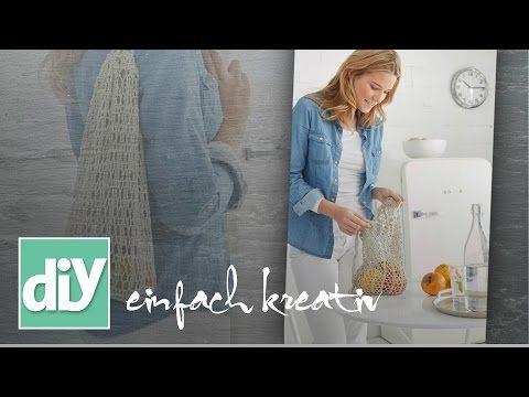 Gehäkelte Einkaufsnetze & Turnbeutel | DIY einfach kreativ - YouTube