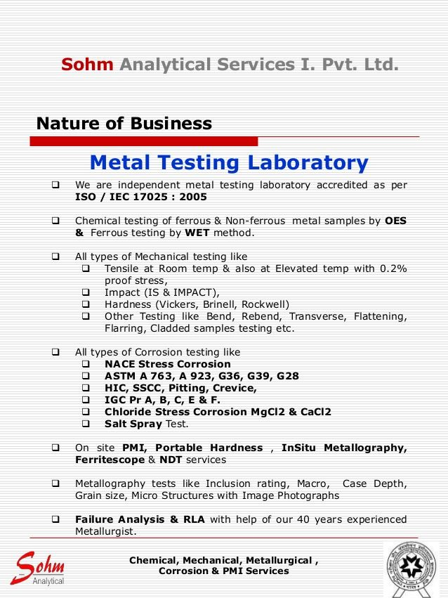 Image Result For Company Profile Sample For A Laboratory