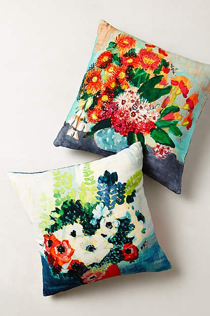 In-Bloom Portrait Pillow - anthropologie.com