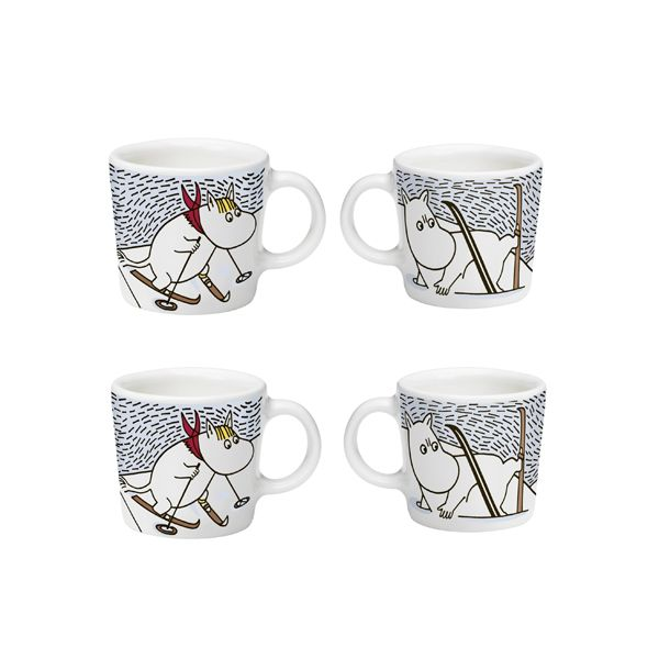 Moomin Mini Mugs for Christmas 2014 Mini mugs come in a set of 4 and are are fantastic Christmas tree decoration for all you Moomin lovers. After trying to hibernate for the winter none of the Moomins feel tired, so with the help of Moominpappa who helps them out of...