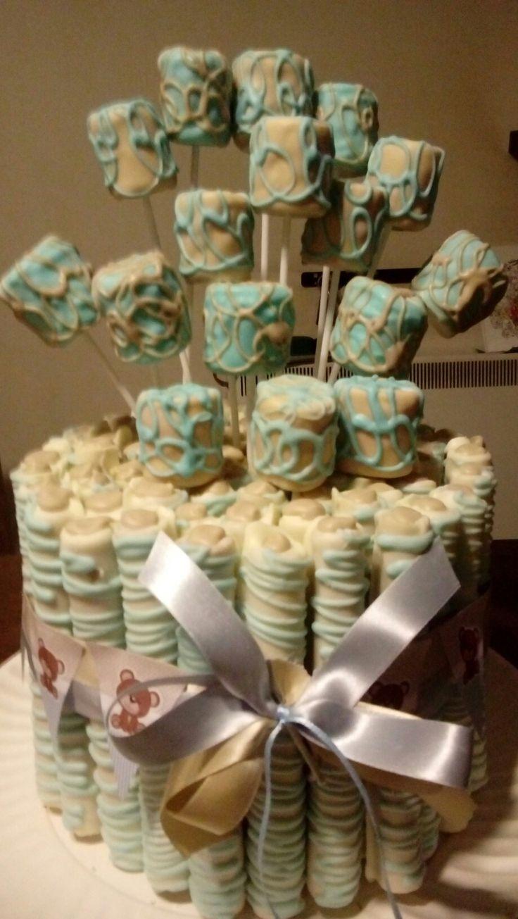 torta de cuchuflis baby shower