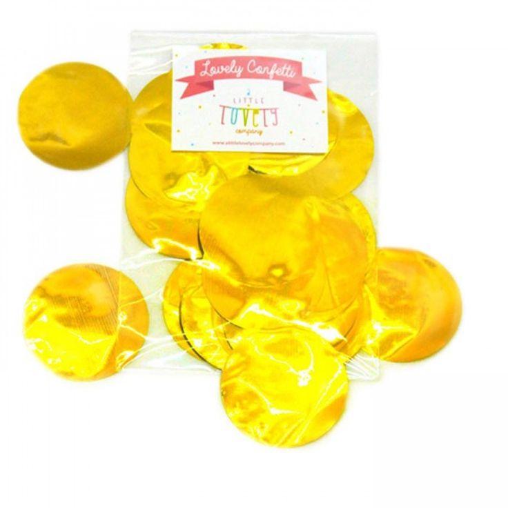 XL Ronde Gouden Confetti