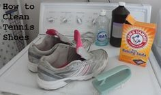 Give your old tennis shoes new life with a little scrubbing and this simple homemade cleaning solution.