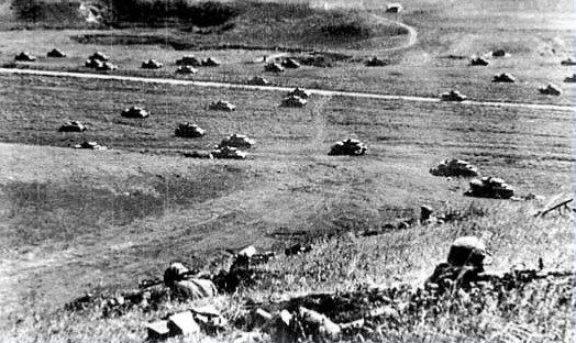 Kursk, July / August 1943 - the greatest tank battle in history.  The German offensive against the Russian salient was too long in gestation, too predictable and foundered on prepared Russian defences.  Both sides suffered enormous losses: the Russians could afford them, the Germans not.