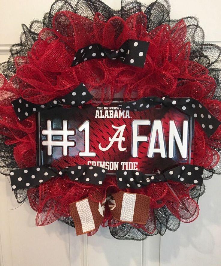 Deco Mesh Weeath Alabama #1 Fan   | eBay