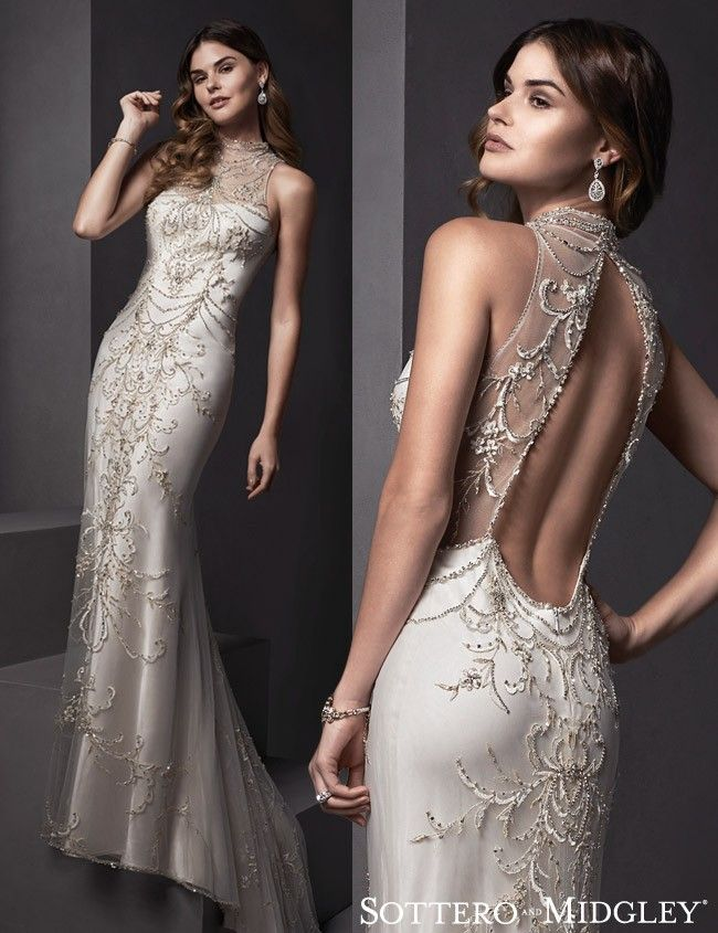Yolanda... A gorgeous open back wedding dress by Sottero and Midgley.