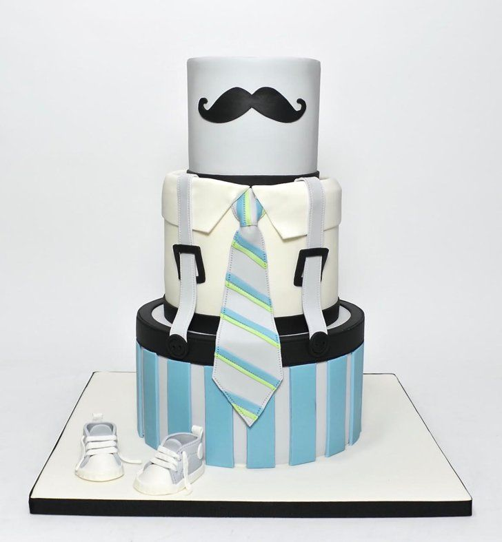 Pin for Later: The Prettiest Over-the-Top Baby Shower Cakes Mr. Mustache Little Man Cake