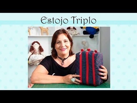 Costura Criativa - Estojo Escolar  Triplo - YouTube