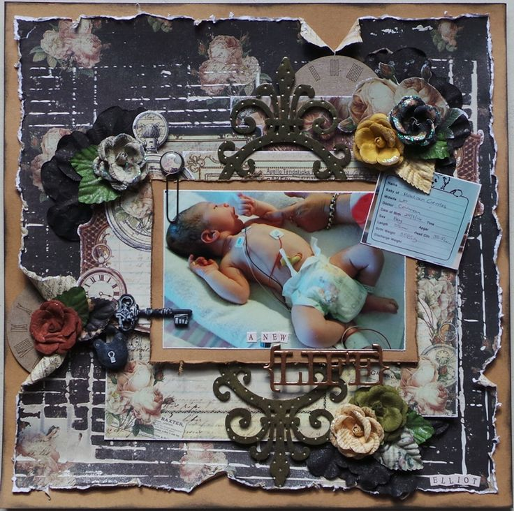 """Layout by Rachelle Minett - Using lots of Prima """"Time Traveler"""" products http://scrappingoutback.com/paper/prima"""