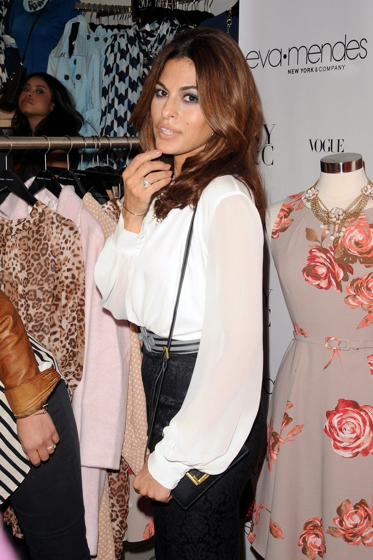 Eva Mendes at the Launch of her Clothing Line with New York & Company, September 2013.
