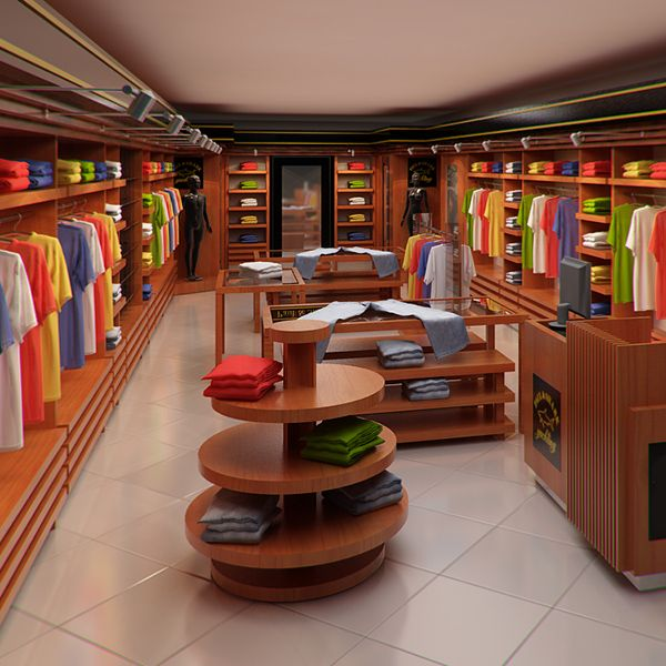 Clothing Store Interior For Men And Women (Render 3D Model