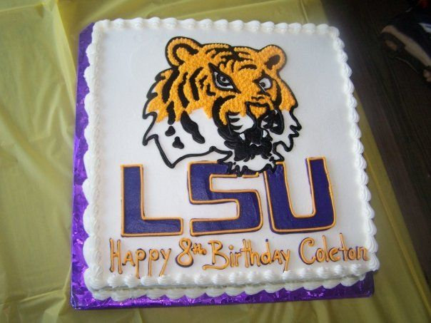 Lsu Tiger Birthday Cake We Like To Party Pinterest
