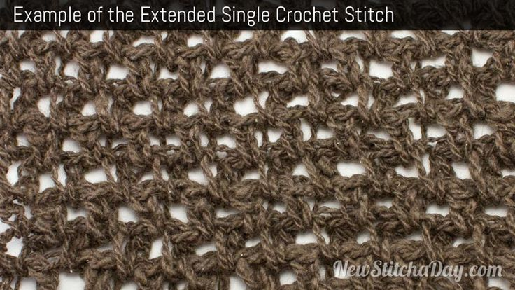 Crochet Stitches Esc : ... knitting Pinterest Single Crochet, Crochet and Crochet Stitches