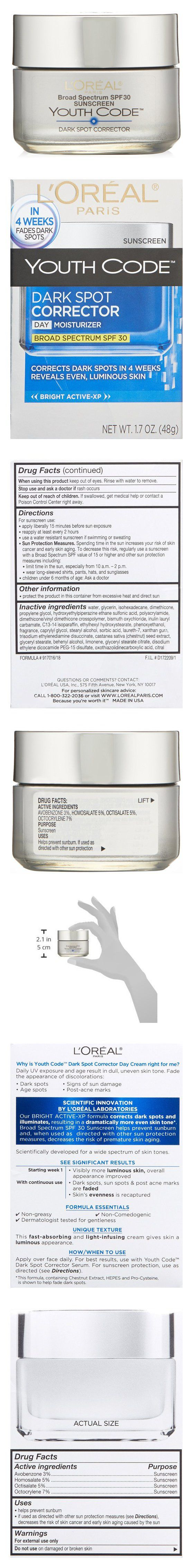 L'Oreal Paris Youth Code Dark Spot Corrector Facial Day Cream SPF 30 #beauty #lorealparis