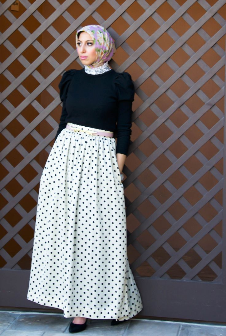 The Classic Day Skirt Returns in Polka Dots! - Haute Hijab