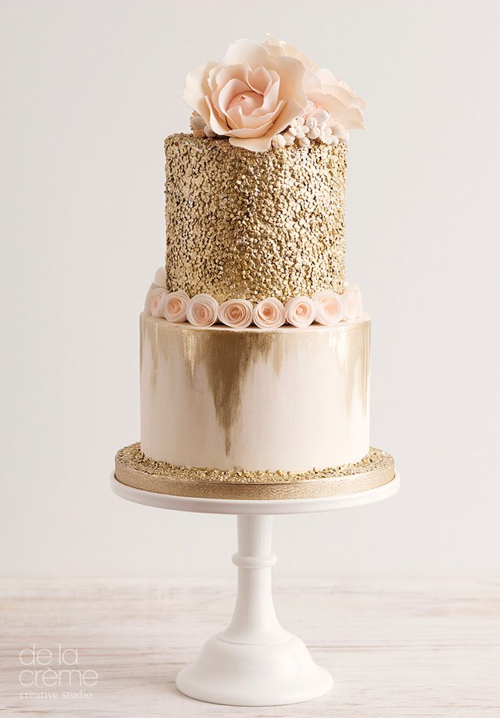Birthday Cake Images Gold : 25+ Best Ideas about Gold Cake on Pinterest Gold ...
