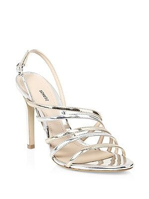 09ab4962033 Schutz Taila Metallic Strappy Sandals
