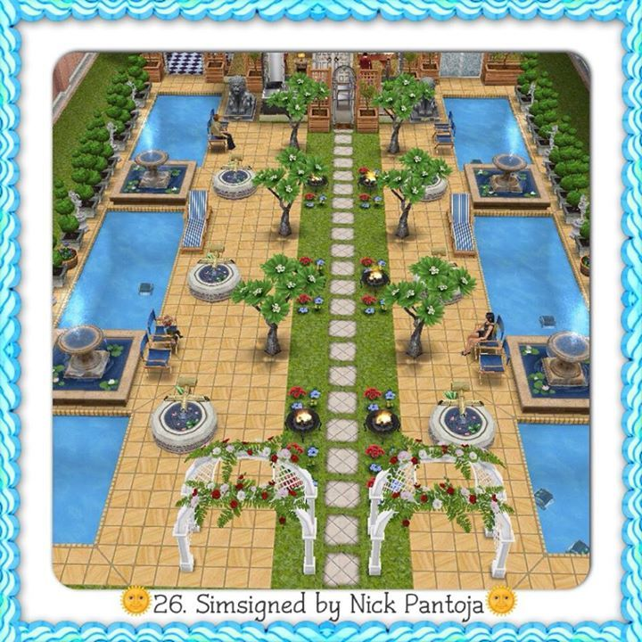Sims Freeplay I Like The Pool Pavers And The Grass Making A Strip House Designgarden