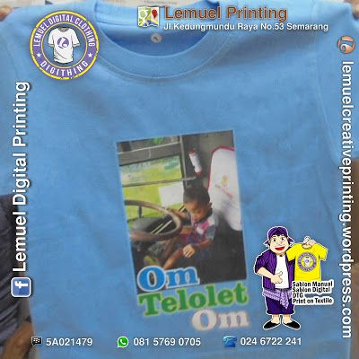 Custom Sablon Kaos Satuan Printable Flex Heat Transfer Berkualitas By DIGITHING