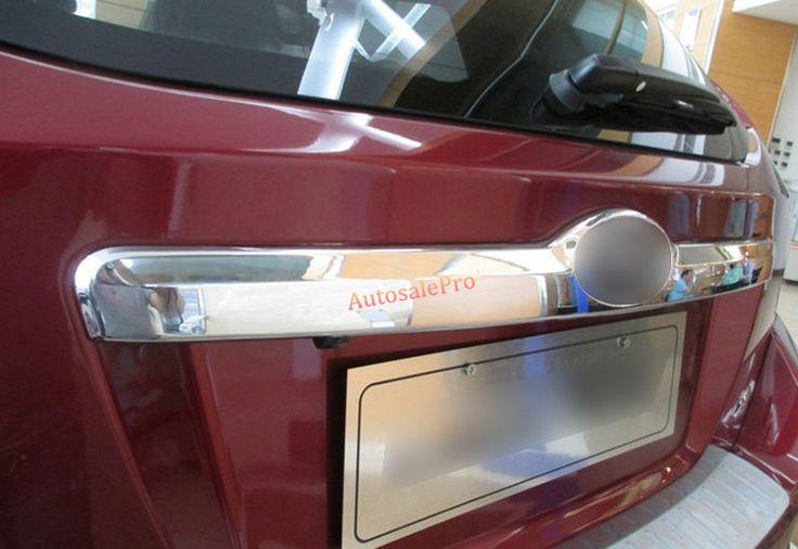 ABSchrome Rear Trunk tail gate door upper logo handle Lid Cover Trim 1pcs For Subaru XV Impreza Hatchback 2012-2015