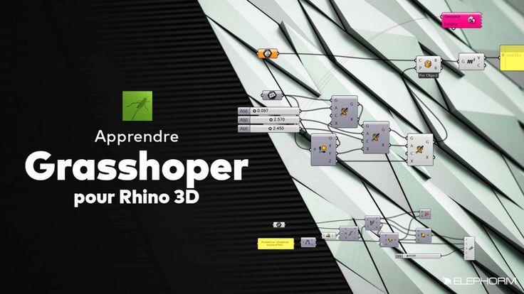 Grasshopper est une extension du célèbre logiciel de CAO Rhinoceros 3D, développé par Robert McNeel & Associates. Ce plug-in permet de créer des modèles paramétriques grâce à de la programmation visuelle sur Rhinoceros 3D. La force de Grasshopper est son très haut niveau de programmation, c'est à dire très accessible au plus grand nombre, sans avoir besoin de compétences spécifiques en matière de développement.