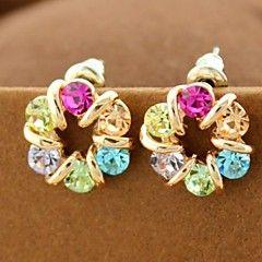 värikäs Tšekin timantti korvakorut
