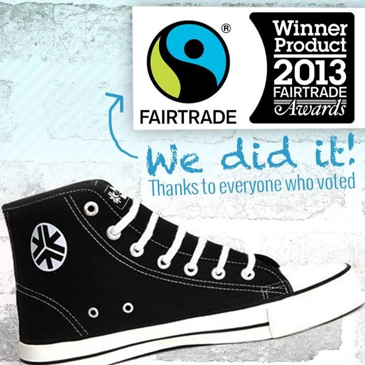 #Etiko can officially announce that our sneakers have been awarded the #Fairtrade Product of the Year 2013. Thank you to all our supporters who took the time to vote for us. It's good to see that people are realising fairtrade is not all about coffee and chocolate  Read more here: http://fairtrade.com.au/news/companies-rewarded-commitment-farmers Fairtrade Australia