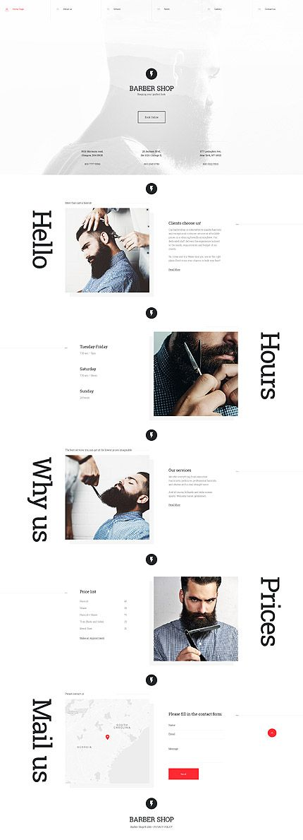 Barber Shop website template
