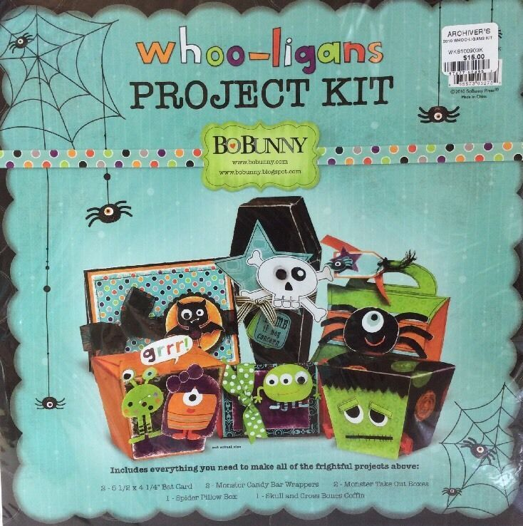 BoBunny Whoo-Ligans Halloween Project Kit Card Candy Wrapper Box Coffin Bat New    eBay