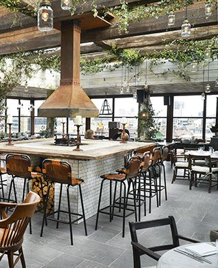 With panoramic views of central London and the docklands, this is one of the ultimate roof top restaurants in London.