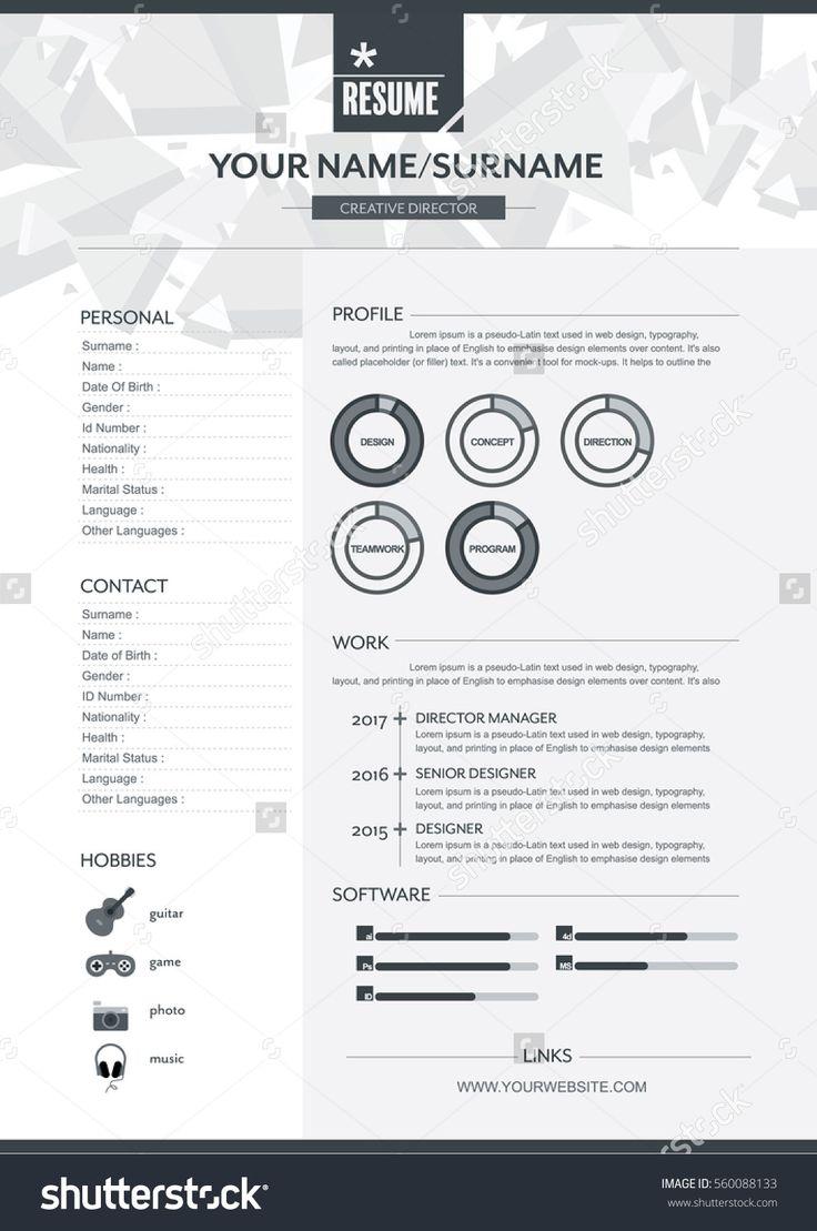 28 besten CV styling Bilder auf Pinterest | Lebenslauf design ...