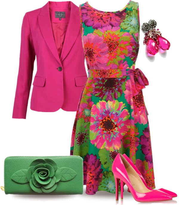 """Floral Dress"" by yasminasdream ❤ liked on Polyvore"
