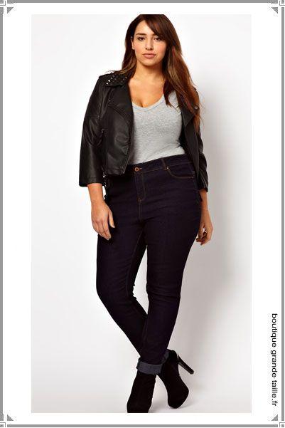 21 best jeans grande taille femme ronde mode images on pinterest. Black Bedroom Furniture Sets. Home Design Ideas
