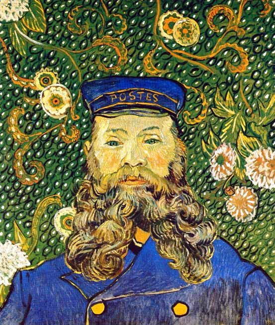 Vincent Van Gogh - Post Impressionism - Arles - Portrait de Joseph Roulin - 1889. Neighbour and friend to Van Gogh in Arles. Roulin and family agreed to sit for many portraits, saving Van Gogh from having to hire models.