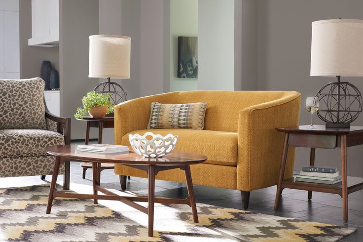 La-Z-Boy Deco Premier Loveseat | The scale of this modern sofa means it'll fit right into smaller spaces. | Plus, PIN TO WIN a chair and a half! Get contest details at http://houseandhome.com/la-z-boy | #loveseat #sofa #smallspace #livingroom #furniture