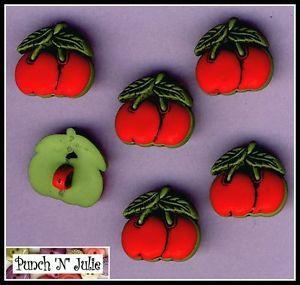 RED CHERRIES - Cherry Food Fruit Machine Casino Rockabilly Novelty ...