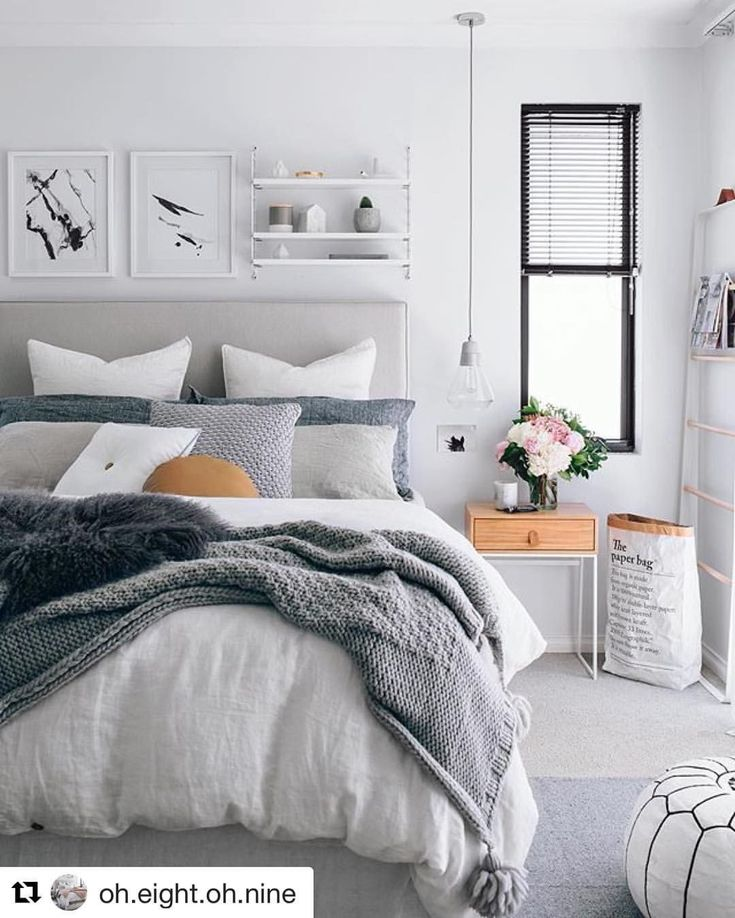 Today's inspiration  from @oh.eight.oh.nine #GreyPillow