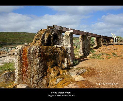 Australian Scenery (Augusta's Water Wheel)