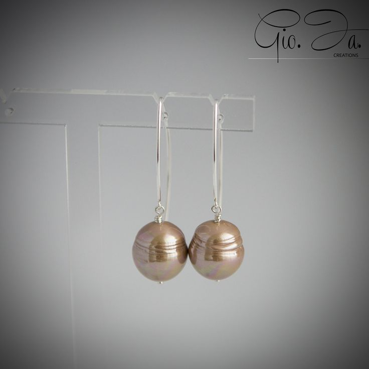 Copper Baroque Pearls Large V