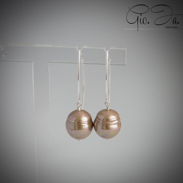Copper Baroque Pearls Large V