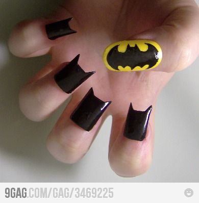 batman nails for cheyenne hehe she would love them