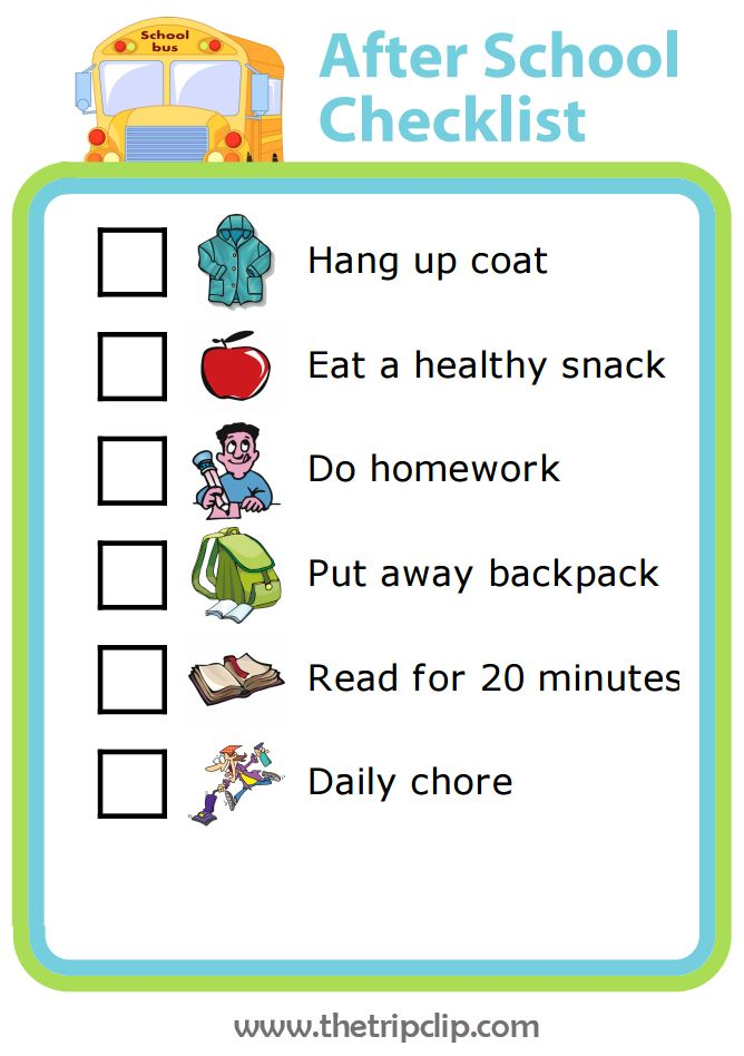 Best 25 after school checklist ideas on pinterest after for Building your own home checklist