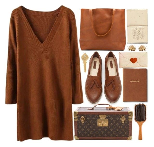 """""""BROWN"""" by strayalley ❤ liked on Polyvore featuring Forever 21, Louis Vuitton, Monica Rich Kosann, Annina Vogel and Aveda"""