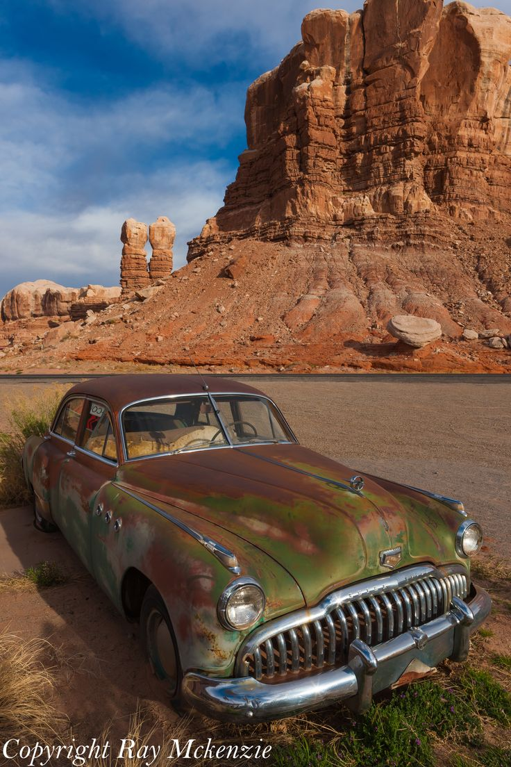 Navajo Twin Rocks with an old Buick!