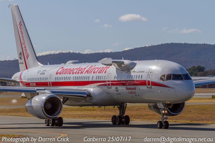 Honeywell Flight Test Aircraft N757HW taxis at #Canberra Airport 25/07/17. #avgeek #aviation #aeroausmag #cbr #canon http://buff.ly/2vF8m5d?utm_content=buffer4fd40&utm_medium=social&utm_source=pinterest.com&utm_campaign=buffer